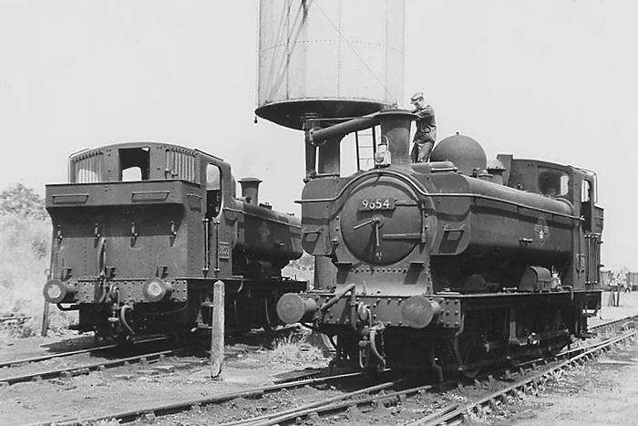 9654 & 3653 Fairford June 1962