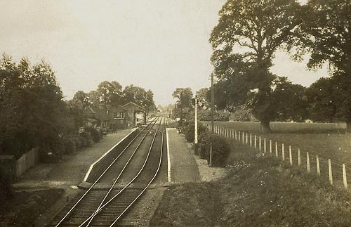 Bampton station prior to the construction of RAF Brize Norton