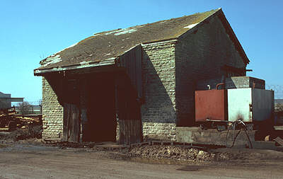 Brize Norton & Bampton goods shed in 1980
