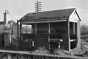 Brize Norton & Bampton signal box in 1978