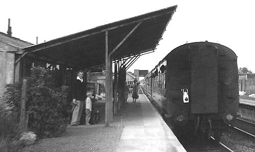 Carterton station on 16 June 1962, with me on the platform!