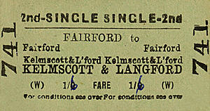 Fairford to Kelmscott & Langford ticket