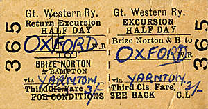 Brize Norton & Bampton to Oxford ticket