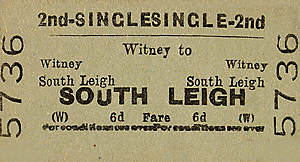 Witney to South Leigh ticket