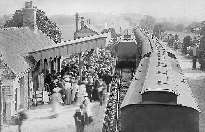 Witney Station in the Edwardian era