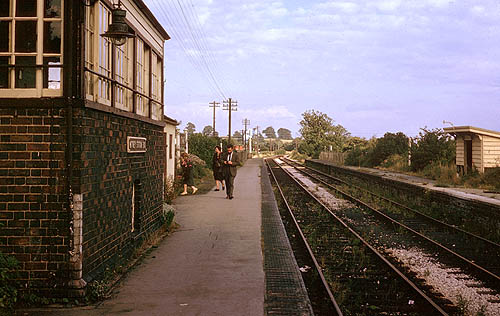 Witney station after closure