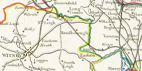 1849 map of the Witney area