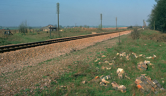 The site of Yarnton Junction in 1980
